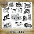 DOG DAYS - 14 PNG Stamps and ABR Brush Files by Idgie's Heartsong