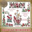 7 Beautiful PNG FLORAL BORDERS by Idgie's Heartsong