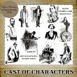 CAST OF CHARACTERS -  10 PNG Stamps and ABR Brush Files by Idgie's Heartsong