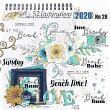 Digital Scrapbook embellishments - Beach Vibes by Vicki Stegall @ Oscraps.com