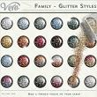 Family Glitter Styles by Vero