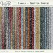 Family Glitter Papers by Vero