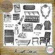A Quiet Season - Mini O - 16 PNG Stamps and ABR Brushes by Idgie's Heartsong