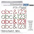 52 Inspirations 2020 Christmas Inspired Digital Scrapbooking Alphabets by Vicki Stegall @ Oscraps.com