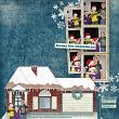 """""""Fraijo-Tobin Family"""" #digitalscrapbooking layout by AFT Designs using """"Home For Christmas"""" Papers"""