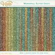 Wonderfall Glitter Sheet Papers by Vero