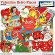 Valentine Retro Pieces by Aftermidnight Design