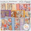 Let's Play Floral Dreams Digital Scrapook Background Papers by Vicki Stegall at Oscraps.com