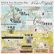 Digital Scrapbook Pack | Wild and Free Word Art by Vicki Stegall | Oscraps