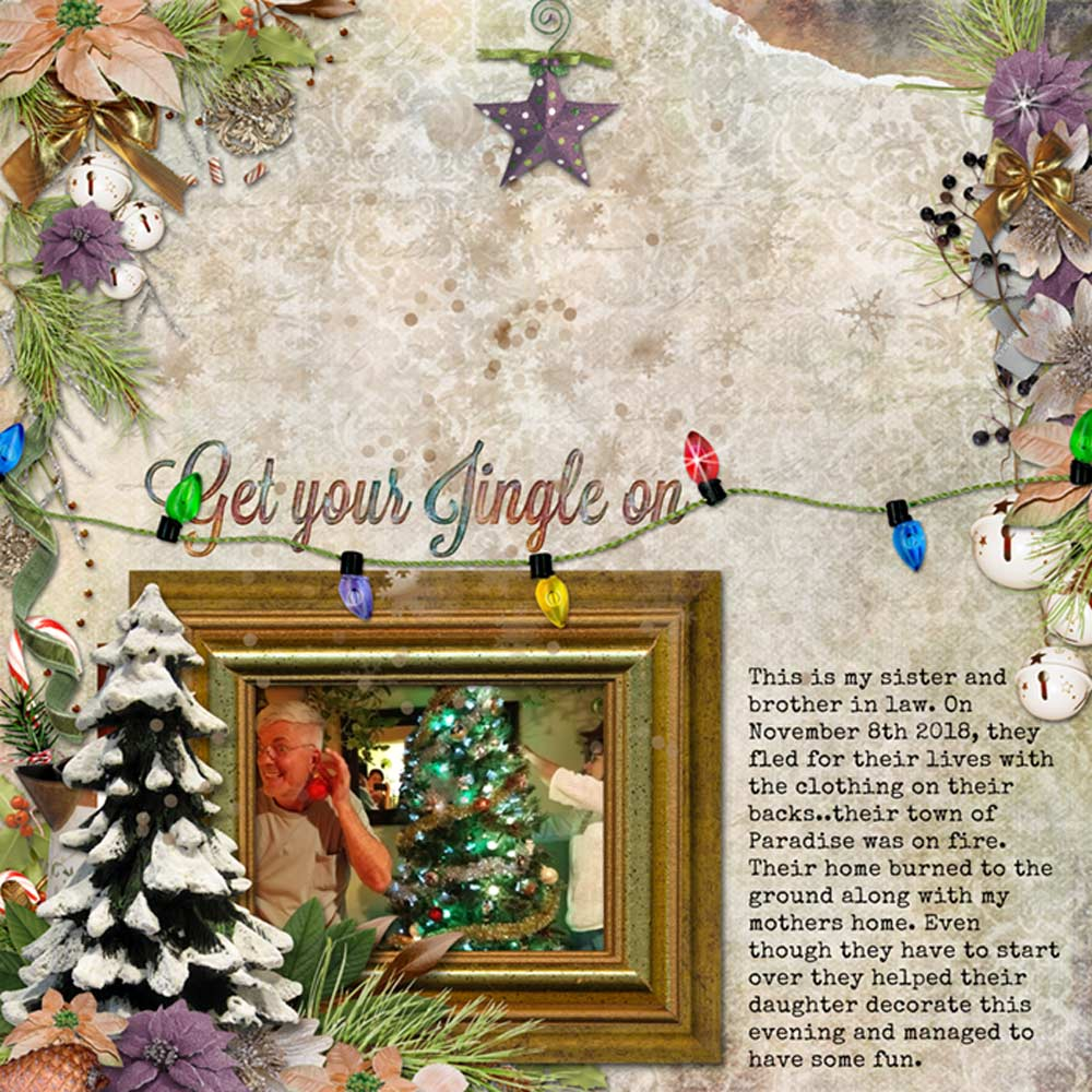 Snickerdoodle Designs Kit, Deck the Halls ,Layout by Chrissy