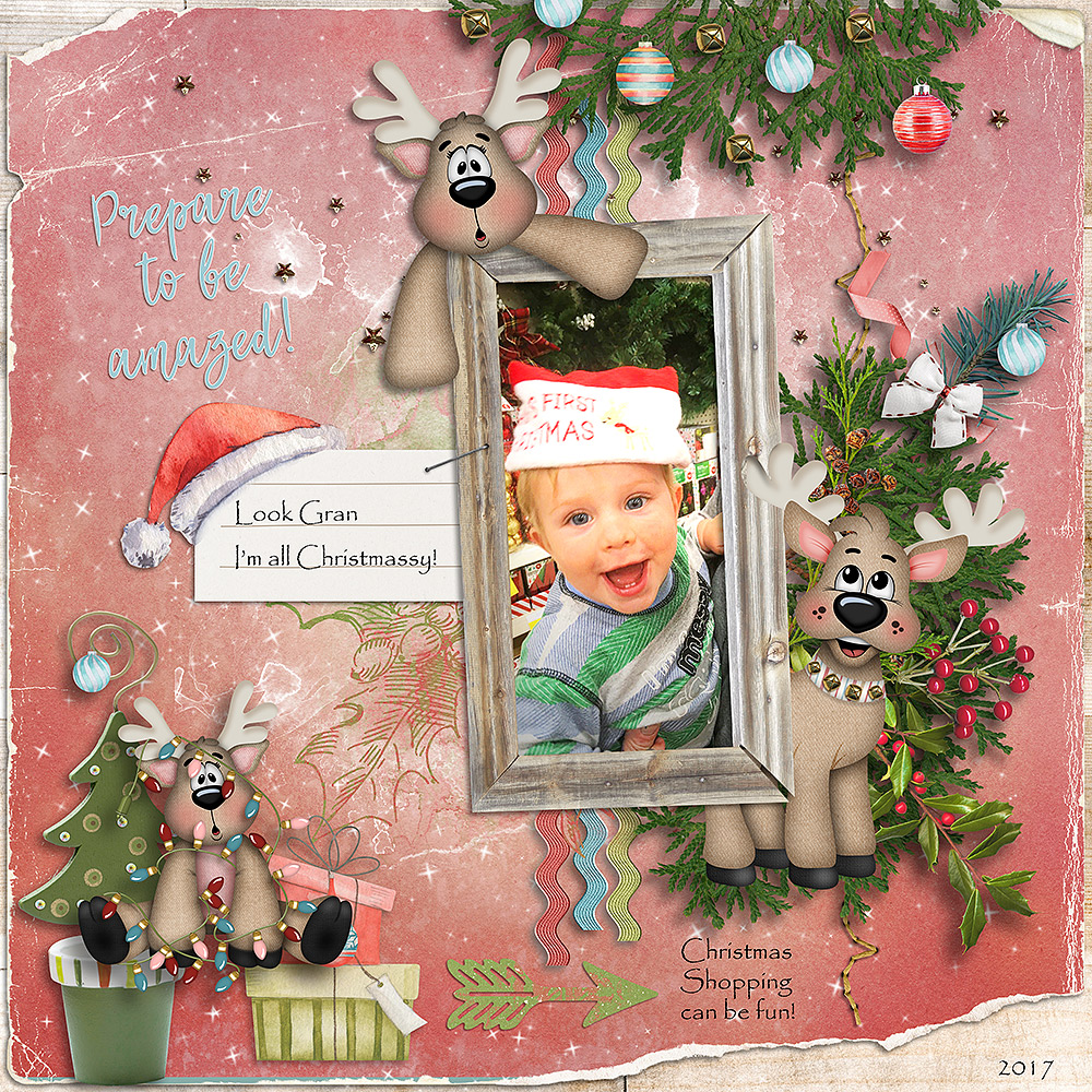 CTM Jenni Layout using This is Me December by Snickerdoodle Designs