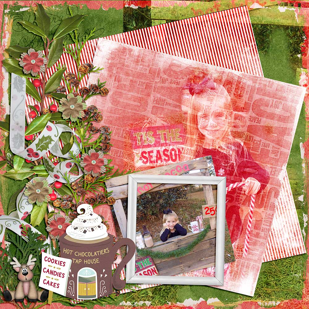 CTM Linda Layout using This is Me December by Snickerdoodle Designs