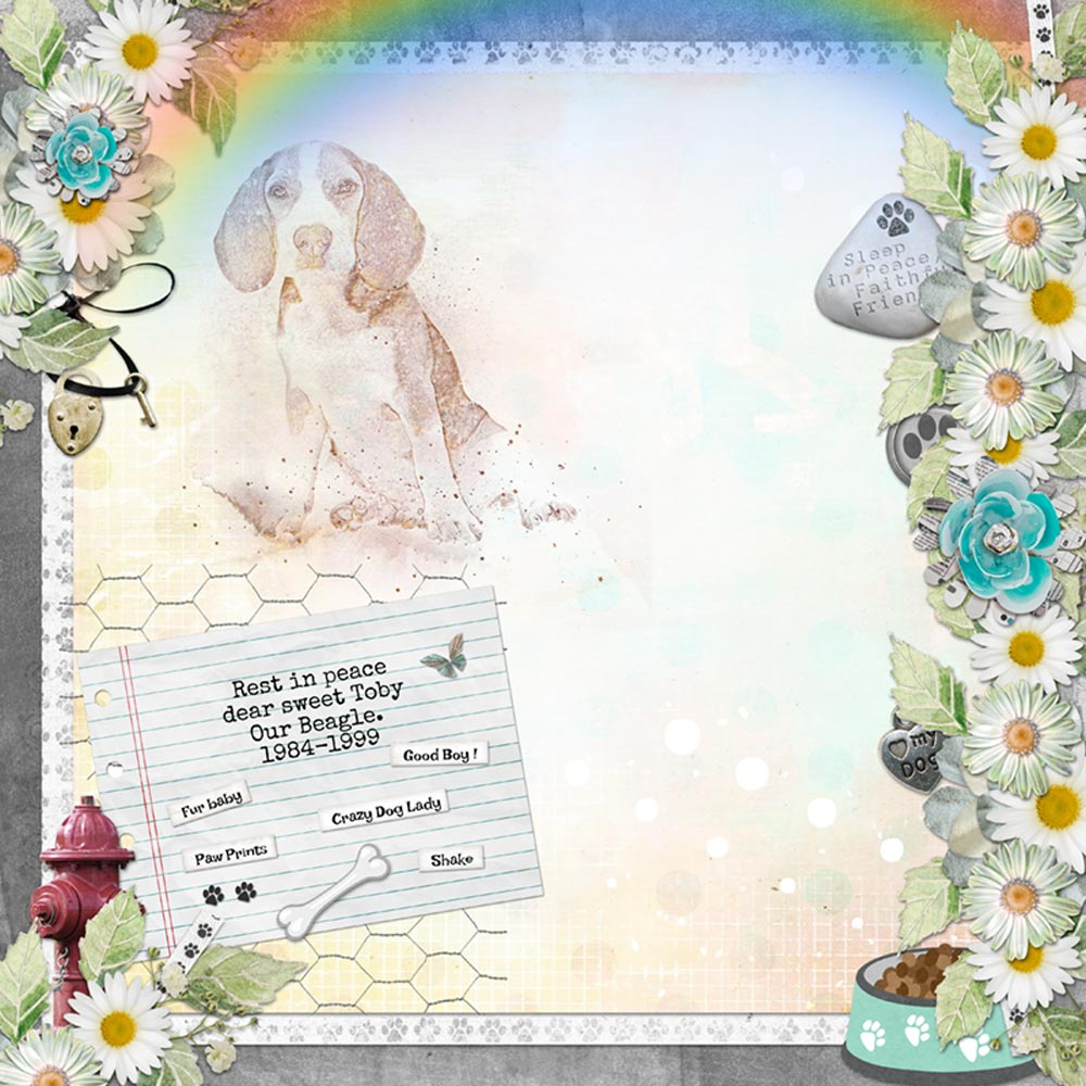 Layout created with Snickerdoodle Designs Love My Dog Kit