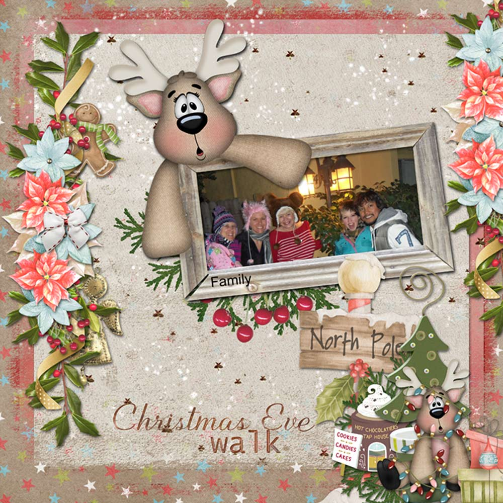 CTM Chrissy Layout using This is Me December by Snickerdoodle Designs