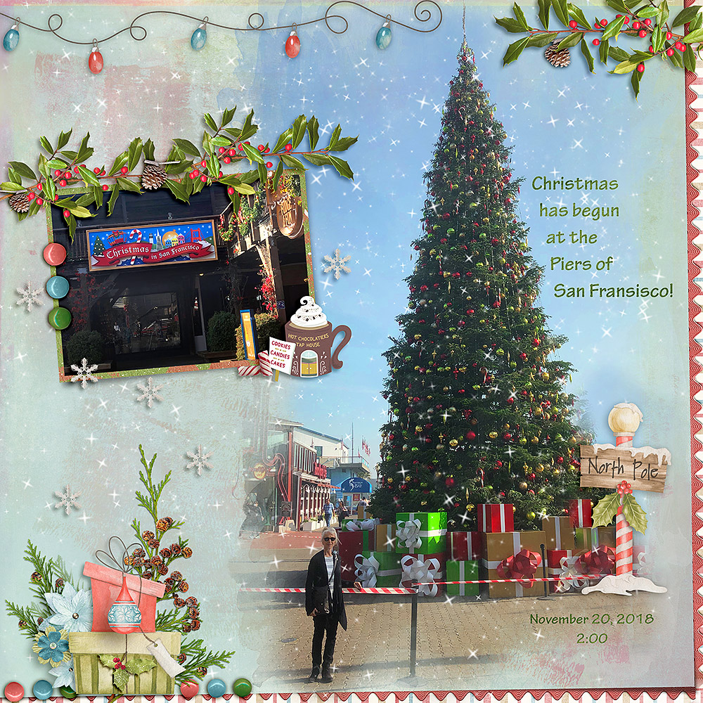 CTM Glori Layout using This is Me December by Snickerdoodle Designs