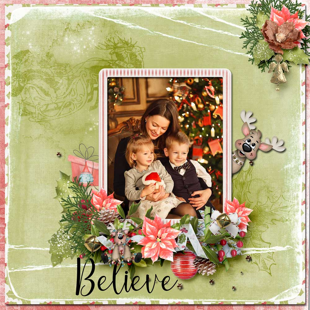 CTM Zanthia Layout using This is Me December by Snickerdoodle Designs