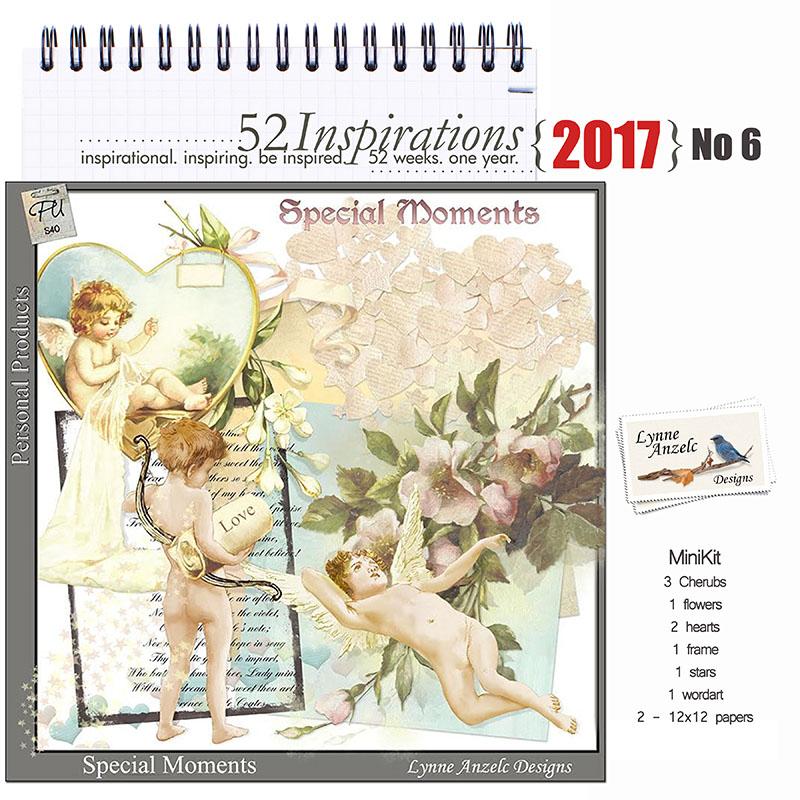 52 Inspirations 2017 Lynne Anzelc - valentines, cherubs