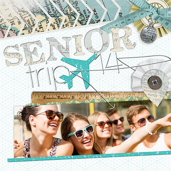 Senior Trip #digitalscrapbooking teen tween map idea by AFT Designs - Amanda Fraijo-Tobin #oscraps #scrapbook