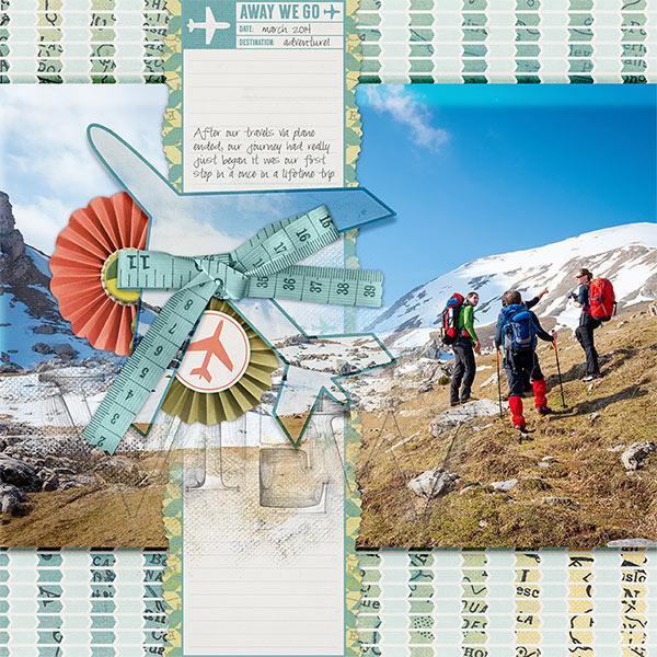 View Explore #digitalscrapbooking hiking travel idea by AFT Designs - Amanda Fraijo-Tobin #oscraps #scrapbook
