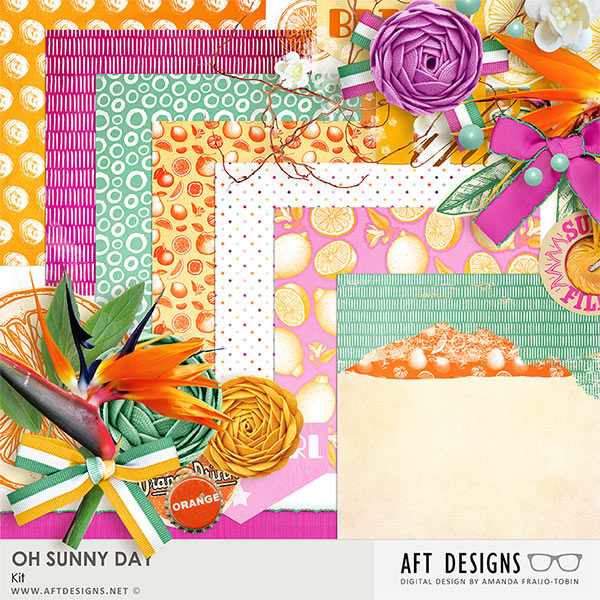 Oh Sunny Day.Oh Sunny Day Digital Scrapbooking Kit By Aft Designs