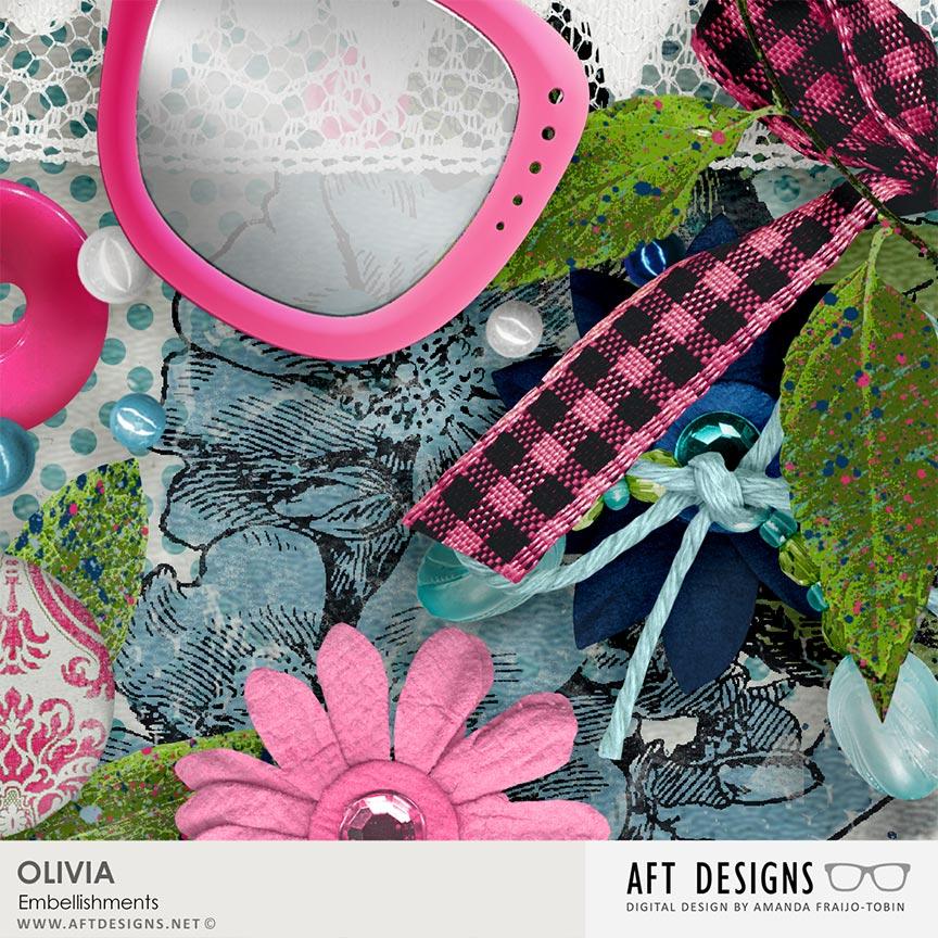 Details of Olivia Digital Scrapbooking Embellishments by AFT designs @Oscraps.com | #aftdesigns #scrapbooking