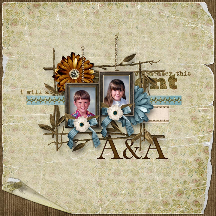 "A & A"" #digitalscrapbooking layout by AFT Designs - Amanda Fraijo-Tobin"