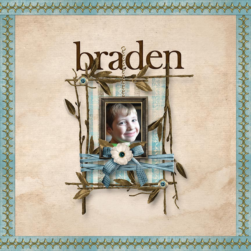 """Braden""  #digitalscrapbooking layout by AFT Designs - Amanda Fraijo-Tobin"