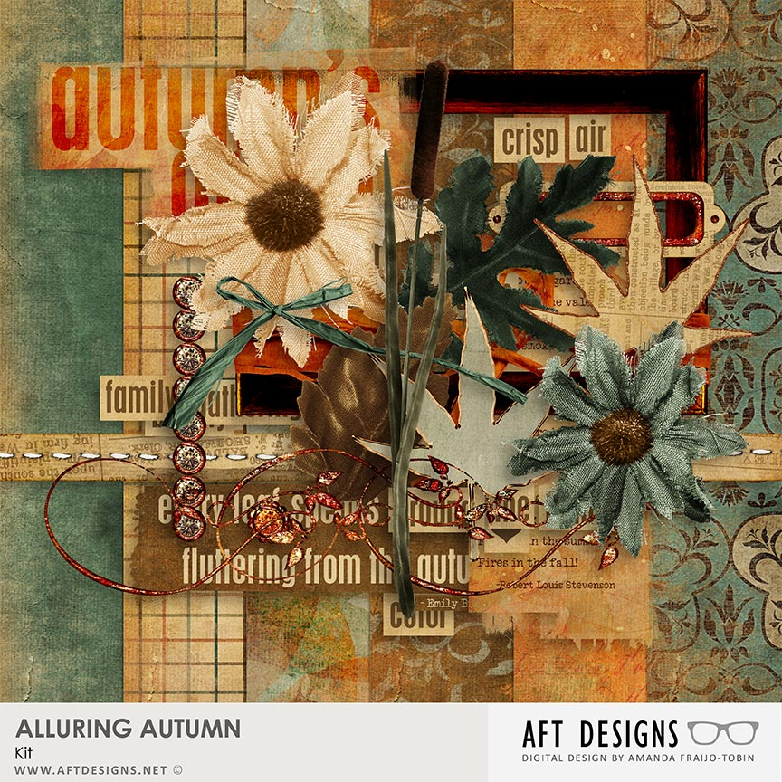 Alluring Autumn #digitalscrapbooking Kit by AFT Designs - Amanda Fraijo-Tobin @Oscraps.com