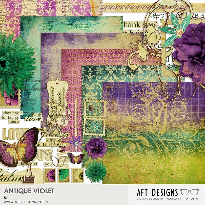Antique Violet #digitalscrapbooking Kit by AFT Designs - Amanda Fraijo-Tobin @Oscraps.com
