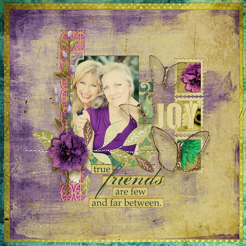 """True Friends"" #digitalscrapbooking layout by AFT Designs - Amanda Fraijo-Tobin"
