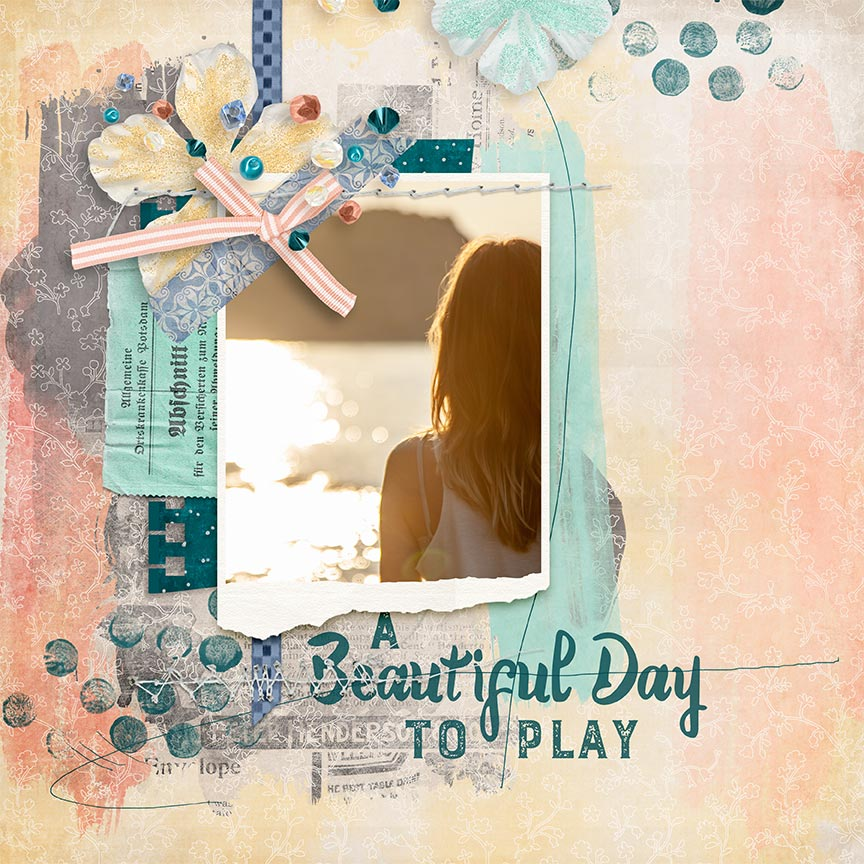 """A Beautiful Day"" #digitalscrapbooking layout by AFT Designs - Amanda Fraijo-Tobin"