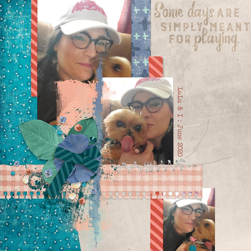 """Some Days"" #digitalscrapbooking layout by AFT Designs - Amanda Fraijo-Tobin"