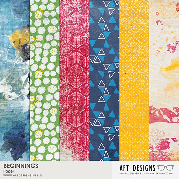 Beginnings Digital Scrapbook Printable Background Papers