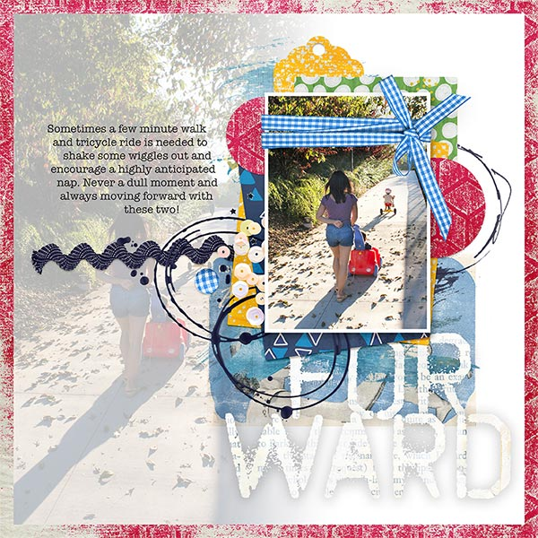 Forward #digitalscrapbooking layout by AFT Designs - Amanda Fraijo-Tobin using Beginnings Digi Scrapbook Kit | www.aftdesigns.net
