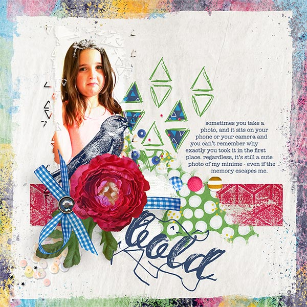 Bold #digitalscrapbooking layout by AFT Designs - Amanda Fraijo-Tobin using Beginnings Digi Scrapbook Kit | www.aftdesigns.net