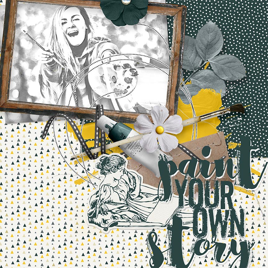 'Paint Your Own Story' #digitalscrapbook layout by AFT Designs - Amanda Fraijo-Tobin