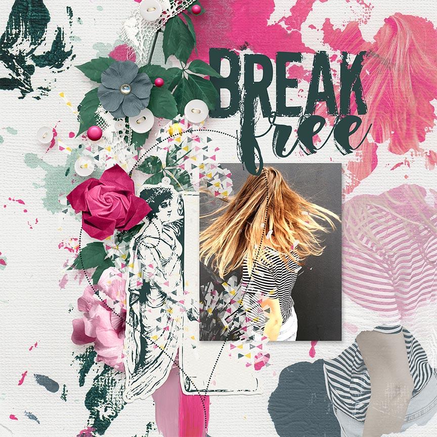 'Break Free #digitalscrapbook layout by AFT Designs - Amanda Fraijo-Tobin