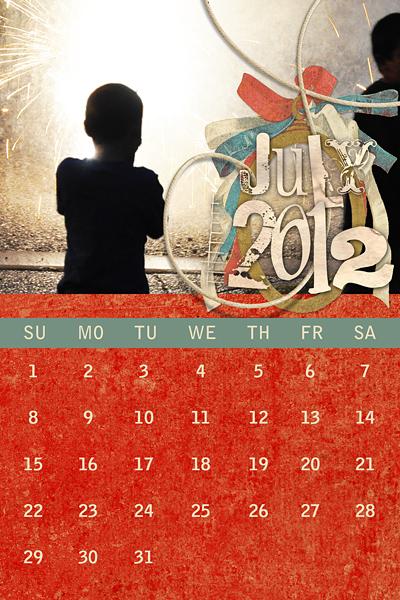 Hybrid Calendar Layout by AFT Designs - Amanda Fraijo-Tobin @Oscraps.com