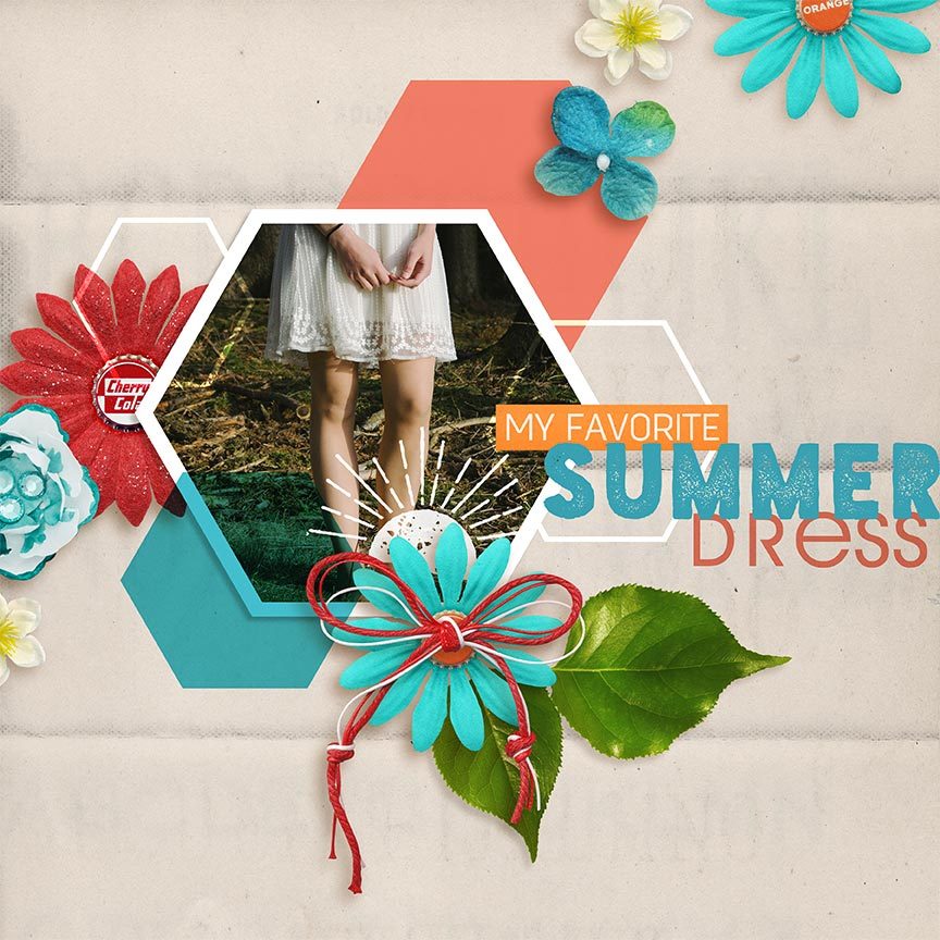 """Summer Dress"" #digitalscrapbooking layout by AFT Designs - Amanda Fraijo-Tobin"
