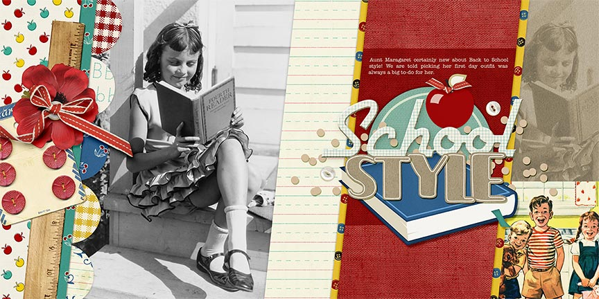 #digitalscrapbooking layout by AFT Designs - Amanda Fraijo-Tobin uising Classic School Kit
