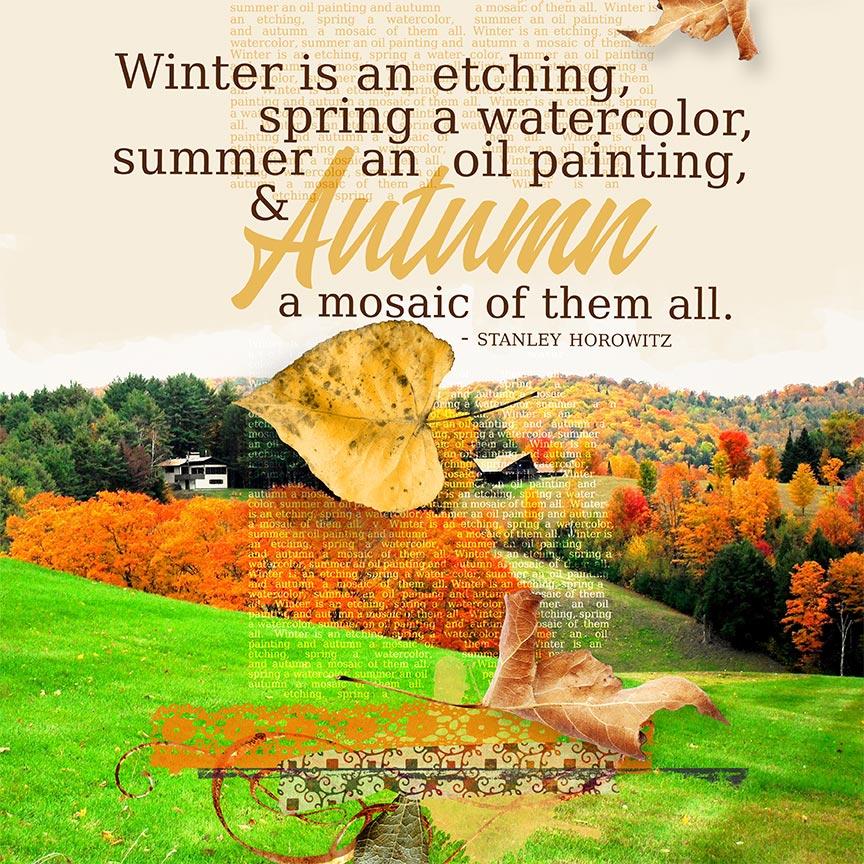"""Winter Etching"" #scrapbook layout by AFT Designs - Amanda Fraijo-Tobin using Crisp Air Mini Kit & Coordinating Products @Oscraps.com"