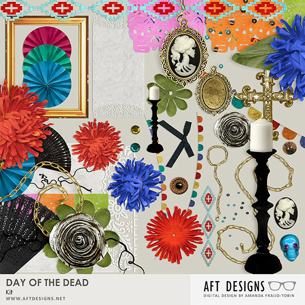 Day of the Dead - Dia de los Muertos by AFT Designs #digitalscrapbooking kit @Oscraps.com | #scrapbook #halloween #dayofthedead #printable