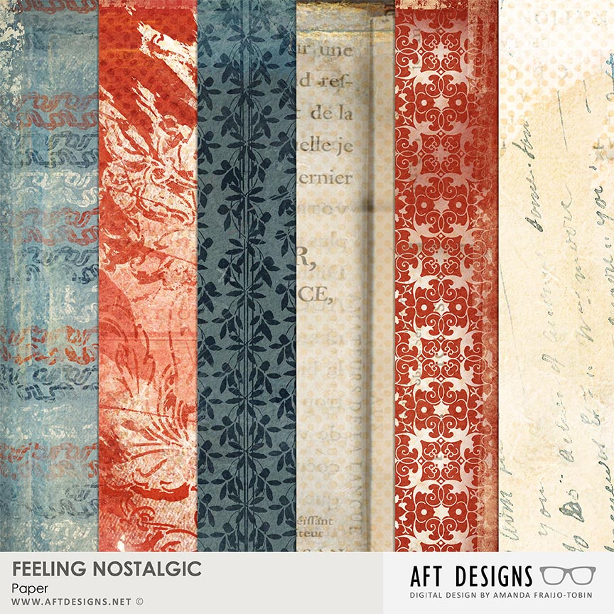 Feeling Nostalgic Papers by AFT Designs - Amanda Fraijo-Tobin @http://bit.ly/AFToscraps