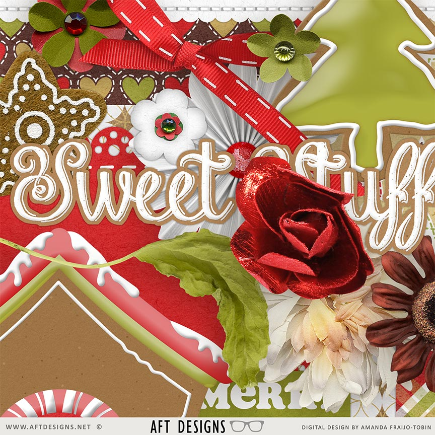 Gingerbread #digitalscrapbooking Collection by AFT Designs - Amanda Fraijo-Tobin