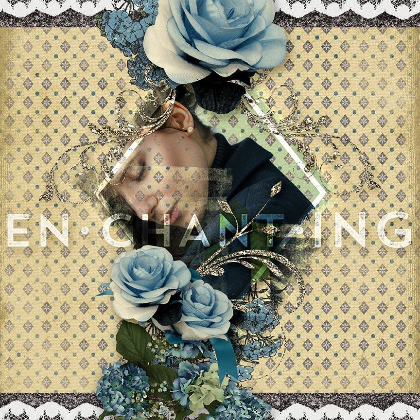 Floral Feminine #scrapbook layout by AFT Designs - Amanda Fraijo-Tobin | www.aftdesigns.net