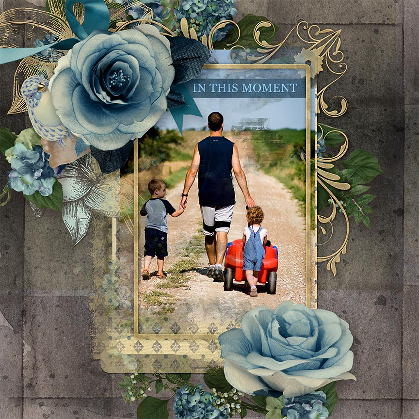 """""""In This Moment"""" #digitalscrapbook layout by AFT Designs - Amanda Fraijo-Tobin using In This Moment Mini Kit"""