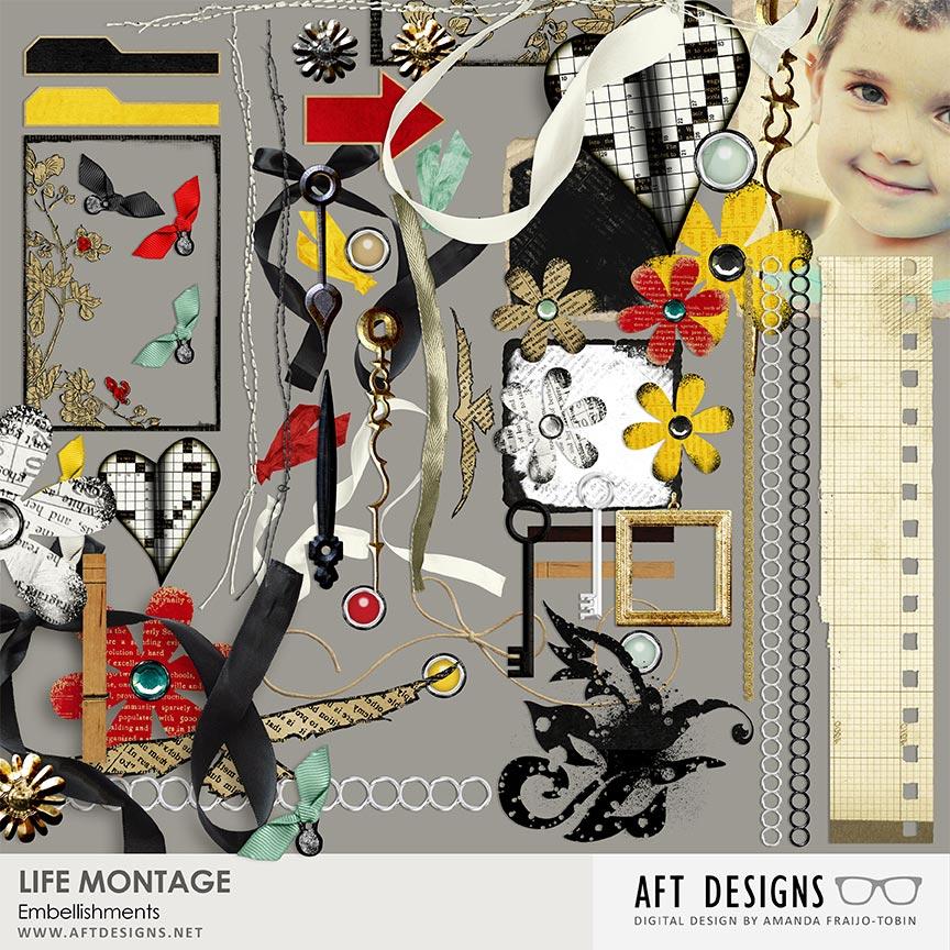 Life Montage Super #digitalscrapbooking kit by AFT Designs - Amanda Fraijo-Tobin