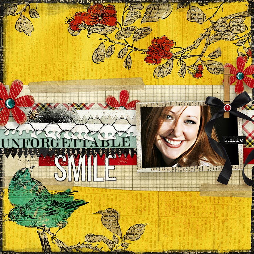 """Unforgettable Smile"" #digitalscrapbooking layouit by AFT Designs - Amanda Fraijo-Tobin"