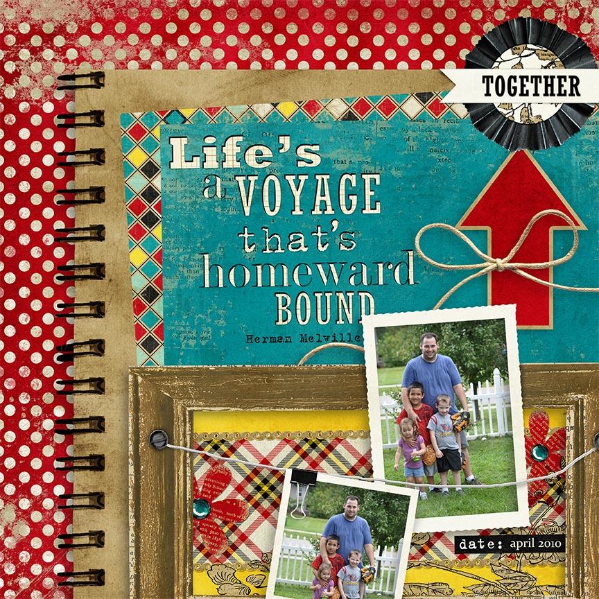"""Life's A Voyage"" #digitalscrapbooking layouit by AFT Designs - Amanda Fraijo-Tobin"
