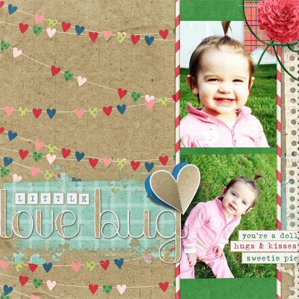 """Little Love Bug""  #digitalscrapbooking layout by AFT Designs Amanda Fraijo-Tobin"